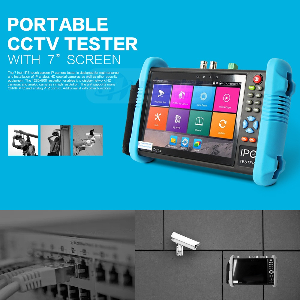Visit To Buy New 7inch X42tac5m Cctv Video Tester 6 In 1 Support Ip Camera 7 Inch Ipc 9800 Series 1080p Ahd Cvi Tvi Cvbs Test