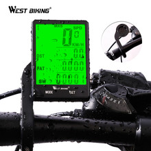 WEST BIKING 2.8 inch Bicycle Computer Large Screen Speedometer Wireless Wired Waterproof Sensor Cycling Odometer Bike