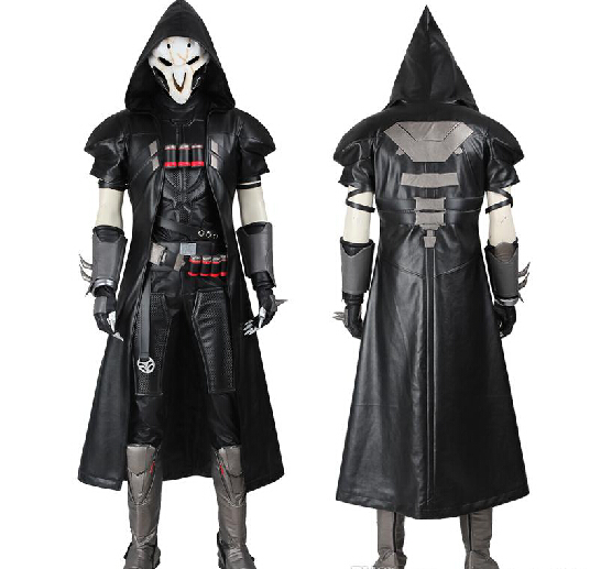 HOT Games Reaper Cosplay Costume COS Gabriel DE Reyes Full Set Any Size Handmade For Halloween With Mask