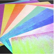 40 sheets 15*15cm Glitter Origami Paper Shining Flower Folding Papers Kids DIY Making Scrapbooking Arts Craft Decoration(China)