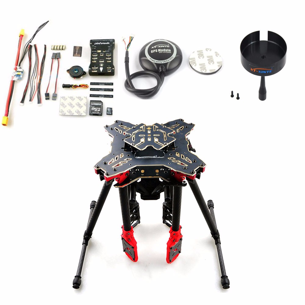 DIY GPS Drone RC Quadcopter HMF U580 Totem Series PIX Flight Control 700KV Motor 30A ESC Radiolink AT10 TX&RX No Battery 6axle foldable rack rc helicopter kit apm2 8 flight control board gps 1000kv motor 10x4 7 propeller 30a esc at10 tx f02015 j