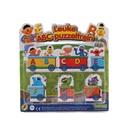 26 cartas rompecabezas rompecabezas infantil de dibujos animados de sésamo 26 unids/caja tren carta rompecabezas educación temprana de aprendizaje Inglés cartas