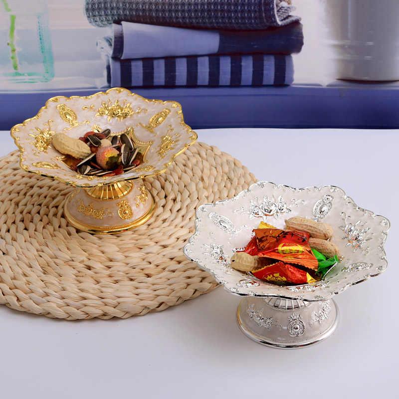 Peandim Eropa Buah Mewah Hidangan Makanan Penutup Piring Pesta Pernikahan Piring Buah Manis Tray Snack Tray Home Nut Mangkuk Wadah