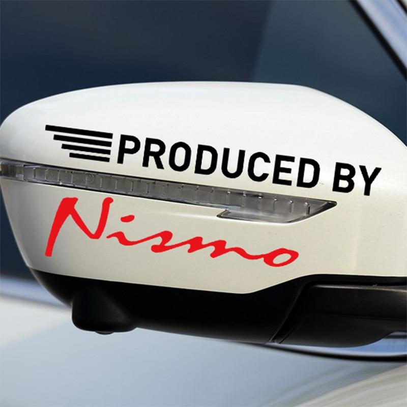 10 Pairs NISMO On Car Rearview Mirror Sticker For Nissan qashqai 2015 juke x-trail tiida note almera accessories