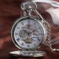 Роскошные Карманные Часы Самостоятельной Ветер Ожерелье Гладкой Кулон Автоматические Механические Женщины Xmas Подарков Винтаж Брелок relogio bolso