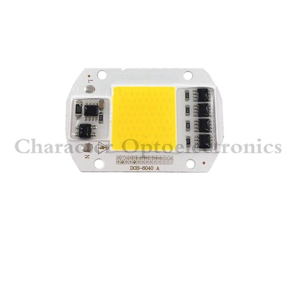 5 PCS CONDUZIU a Lâmpada COB Chip 50 W 220 V 110 V de Entrada Inteligente IC Driver Fit Para DIY LEVOU holofotes holofote Branco Frio Branco Quente