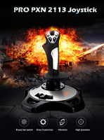 PXN PRO 2113 4 Axles Fixed Reliable Flying Game Rocker Joystick Simulator Professional Gaming Controller with Keyboard Mapping