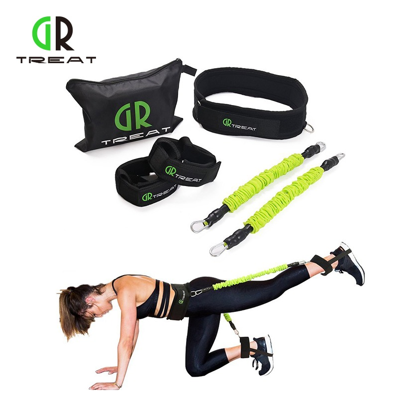 Sports & Entertainment Resistance Bands Women Workout Fitness Yoga Leg Glute Lifter Muscles Trainer Booty Belt Rubber Loop Elastic Loop Exercise Resistance Band Pilates Warm And Windproof