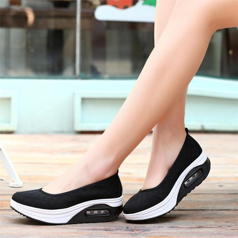2020 Spring Summer New Shake Shoes Breathable Shoes Casual Shoes Thick Bottom Sponge Cake Single Cushion Shoes Mujer S012