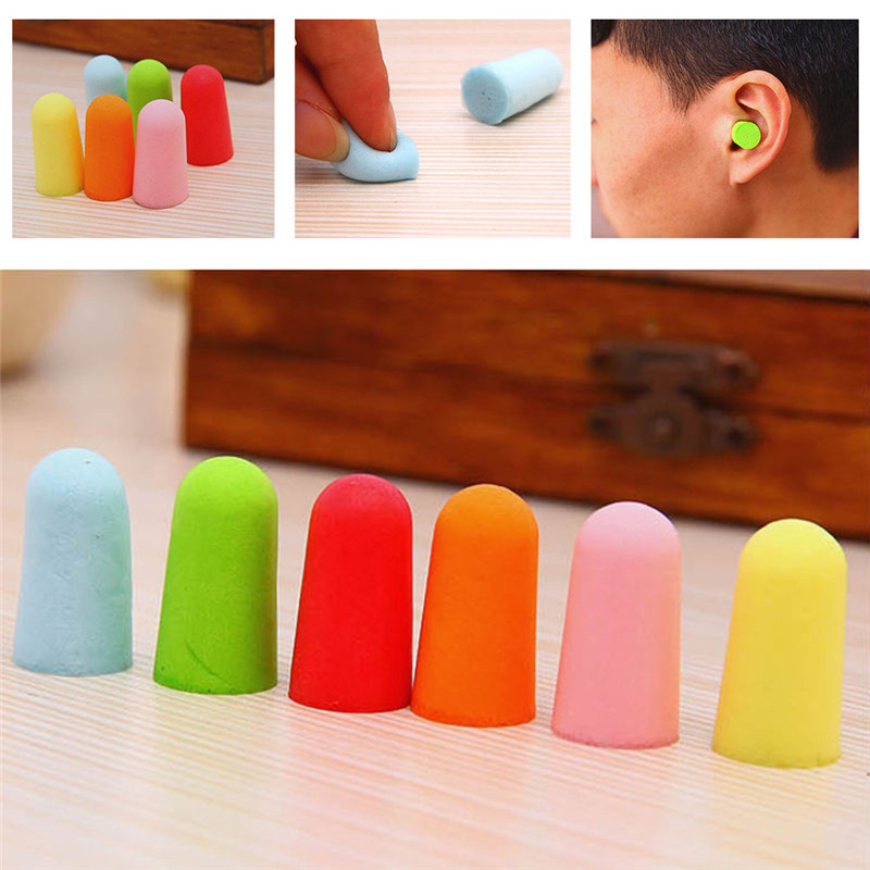 8Pcs Reusable Soft Ear Plugs Tapered Travel Sleep Noise Prevention Earplugs