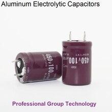 1pcs RH1 Good quality 450v100uf Radial DIP Aluminum Electrolytic Capacitors 450v 100uf Tolerance 20% size 22x30MM