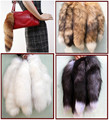 "Larga Genuino Real Red Fox Tail Fur Tassel Bag Tag Encanto Accesorio llavero 12 ''-15"" Envío Libre"