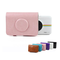 Retro PU Leather Waterproof Anti Shock Storage Carry Bag Case Cover For Polaroid Snap Touch Instant