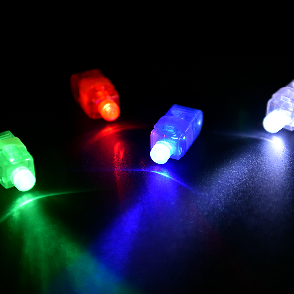 Party Favors Glowing Finger Toys LED Light Up Luminous Rings Flashing In Dark