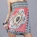 Fashion Women Summer Dress 2016 Vintage Sleeveless Strapless Causal Loose Brand Design Beach Dress Vestidos FB2124