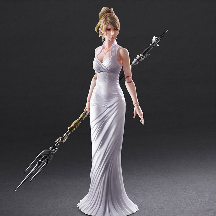 Pa Change <font><b>Final</b></font> <font><b>Fantasy</b></font> <font><b>XV</b></font> 15 Anime Action <font><b>Figure</b></font> 26cm Lunafreya Nox Fleuret PVC Joint movable Model Collection Toys Doll Gift image