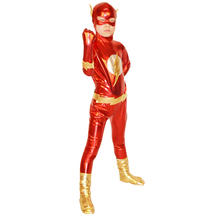 Faux Leather Flash Costumes For Kids