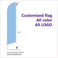 BRAKE SERVICE Advertising Flutter Feather Sign Swooper Banner Flag with pole Advertising Sign4.6m Handing polyester