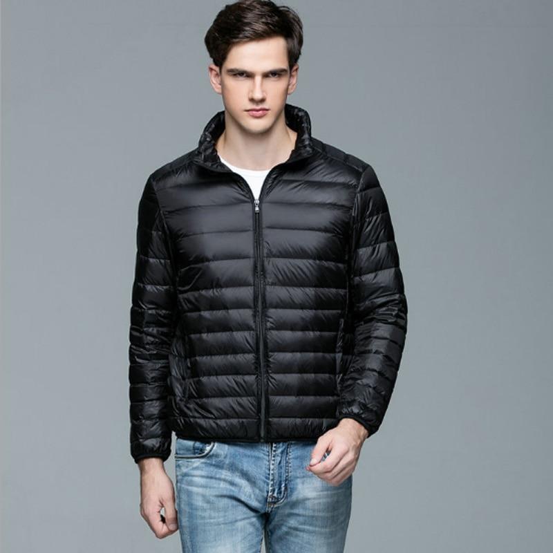 90% White Duck Mens   Down   Jacket Ultra Light Winter Warm Puffer Lightweight   Down     Coat   Men Stand Collar Ultralight   Coats   Male Thin