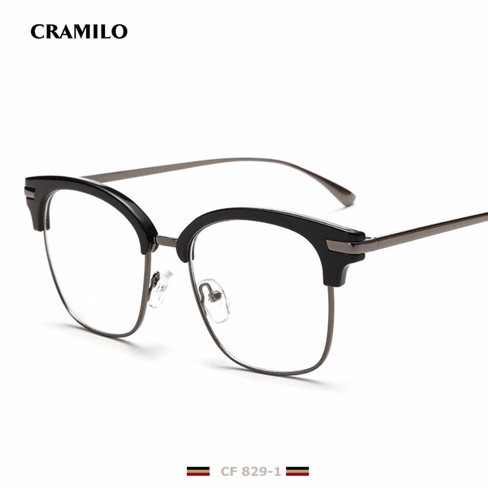 rita brand designer big square glasses frames for men clear metal luxury cf829 1 fashion