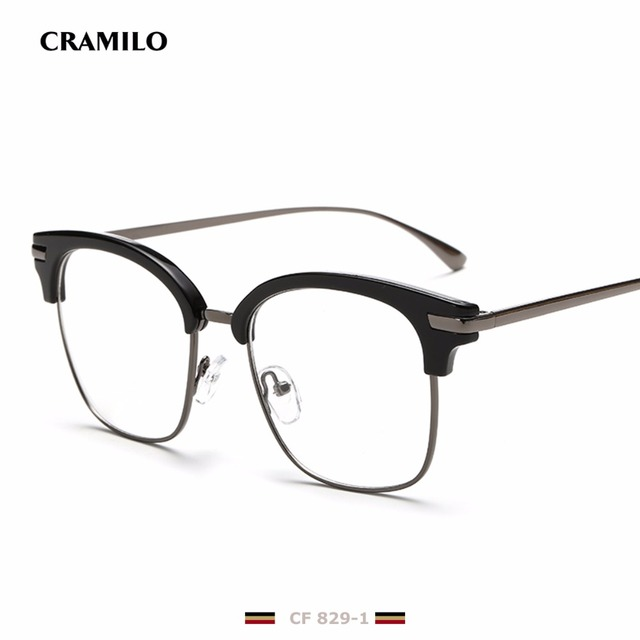 Rita Brand designer big square glasses frames for men clear metal ...