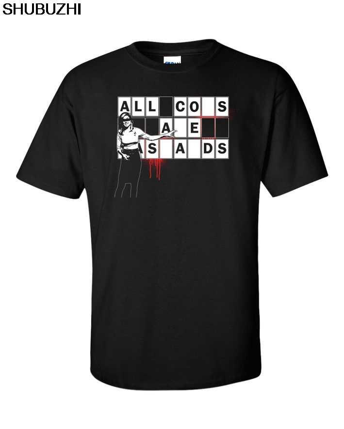 Camisa preta de algodão dos homens verão moda topo t anarquia revolução revolta ação antifa engraçado protesto anti ac ab sbz207