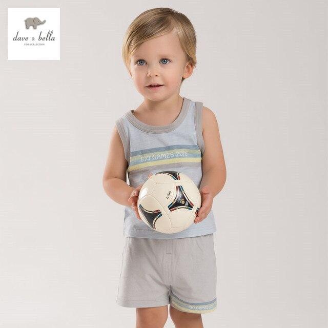 01f9ddaa6f8ab DB3934 dave bella yaz bebek erkek spor giyim setleri çocuklar şık giyim  toddle bez çocuklar kolsuz