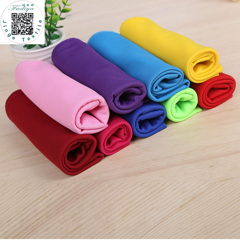 5pcs/lot 9 Colors Ice Towel Utility Enduring Instant Cooling Towel Heat Relief Reusable Chill Cool Towel free shipping