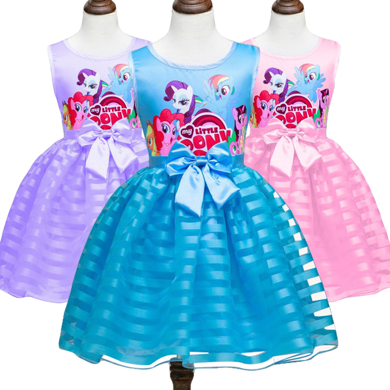 2019 New My Child Woman Gown Kids Woman little Pony Attire Cartoon Princess Occasion Costume Children Garments Summer season Clothes Attire, Low-cost Attire, 2019 New My Child Woman Gown...