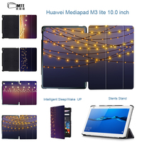 MTT Halo Lights Painted Case For Tablet 10 1 Huawei MediaPad M3 Lite 10 BAH W09