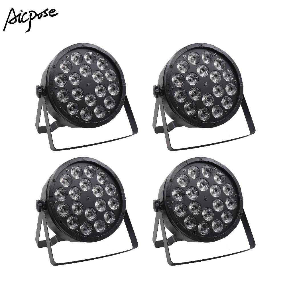 4Pcs/lots 18x12W RGBW 4in1 Led Par Light 18*12w With DMX512 Disco Lights Professional Stage DJ Equipment Wedding  Stage Lighting