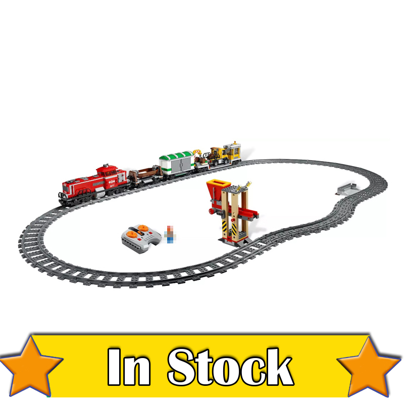 LEPIN 02039 Red Cargo Train City Remote Control RC Building Blocks Bricks Toys DIY For Boys oyuncak Compatible with 3677 8 in 1 military ship building blocks toys for boys