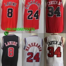 792d20922be7 Free shipping A+++ Chicago CHI quality Mens Adult  8 Zach LaVine  24 Lauri  Markkanen  34 Wendell Carter Jr. Jersey