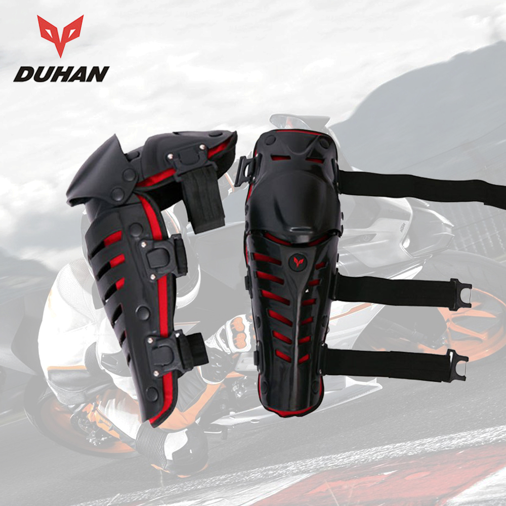 DUHAN Motorcycle Knee Protector Riding Motocross Knee Guards Knee Protective Pads Gear Off-Road Racing Outdoor Sports MX new 4pcs set motorcycle motorbike knee pads elbow pads motocross off road racing protector pads guards protective gear 5 colors