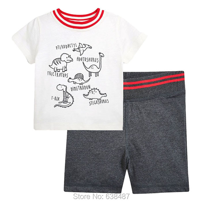 New 2018 Quality 100% Cotton Branded Baby Boys 2pc Children Suit Clothing Kids Toddler Clothes Sets Boys Summer Baby Set Outwear
