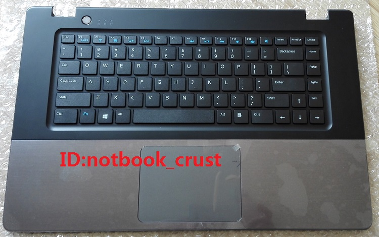 Laptop palmrest for Dell Vostro 5560 gray with black US keyboard & touchpad DP/N: RGYVG