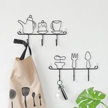 New Nordic INS simple wrought iron hook storage storage rack Creative home door wall wall coat hook decoration