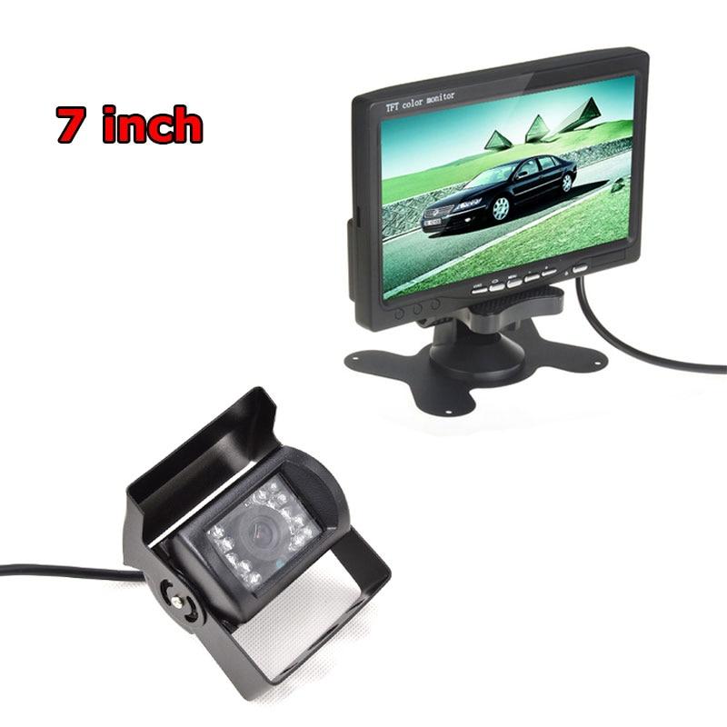 18 IR Reverse Camera +NEW 7 LCD Monitor+Car Rear View Kit car camera BUS And Truck parking sensor