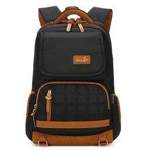 Brand Men Backpacks Student College School Bags Waterproof B