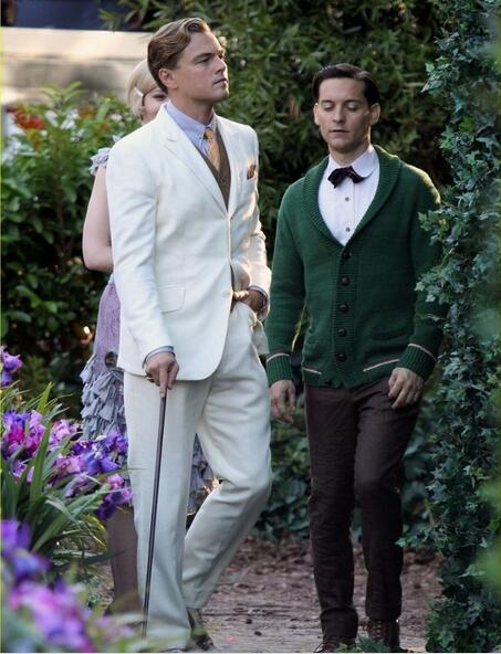 the great gatsby dress white suit for groom men wedding