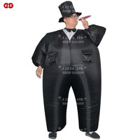 C&Z Outdoor game air filled adult inflatable Bridegroom/Magician hilarious funny inflatable costume Nightclub party clothes