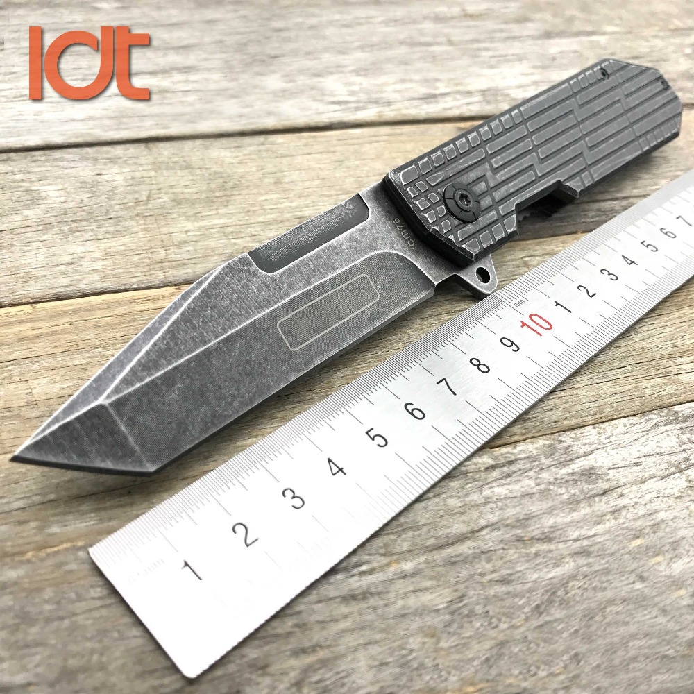 LDT CM75 Folding Knife 7Cr18Mov Blade Steel Handle Camping Hunting Outdoor Knives Pocket Tactical Military Knife EDC Tool