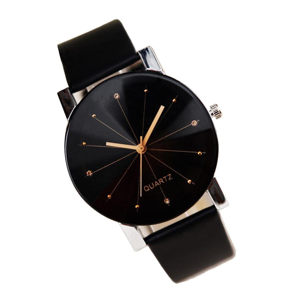 Newly Couple Round Dial Pointer Faux Leather Strap Analog Quartz Wrist Watch Newly Couple Round Dial Pointer Faux Leather Strap Analog Quartz Wrist Watch