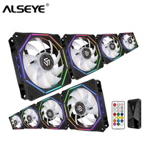 ALSEYE 120mm PC Fan Cooler Computer RGB with RF Remote Control Speed