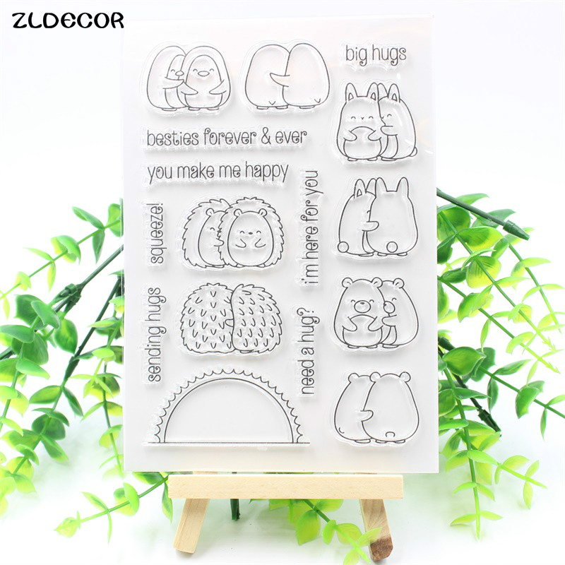 ZLDECOR New Transparent Clear Silicone Stamps for DIY Scrapbooking/Card Making/Kids Fun Decoration Supplies kscraft butterfly and insects transparent clear silicone stamps for diy scrapbooking card making kids fun decoration supplies