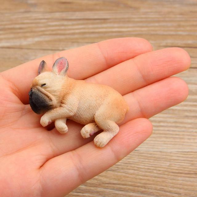 Cute Sleeping Bulldog Magnetic Sticker