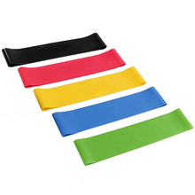 6PCS/Set Nature Latex Loop Fitness Bands Sports BodyBuilding Pilates Physical Therapy Resistance Band Athletic Yoga Expander