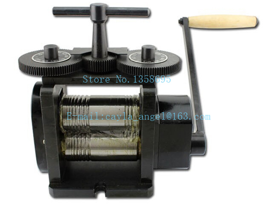 Free Shipping High Quality Jewelry Making Equipment 130mm Rolls Hand Operate Rolling Mill Flat Rolling Mill 1pc/lot
