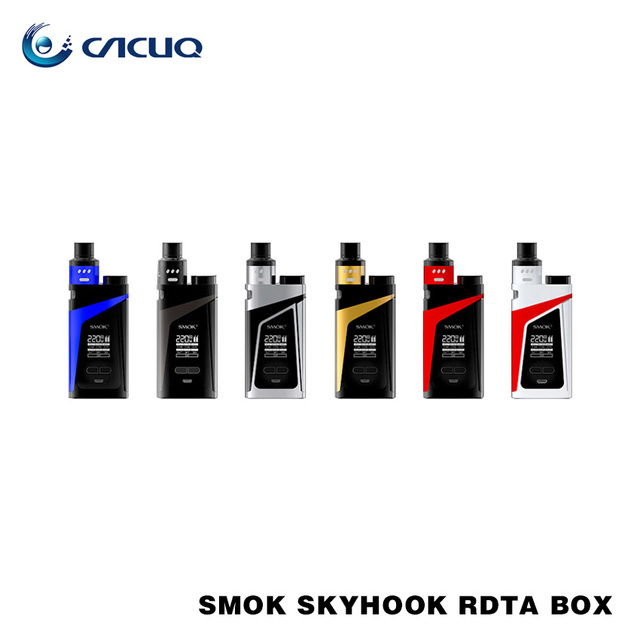 Original Smok Skyhook RDTA Box Mod Kit 220w with 9ml Big Capacity Skyhook RDTA Tank Smoktech 220w 18650 Mod Kit