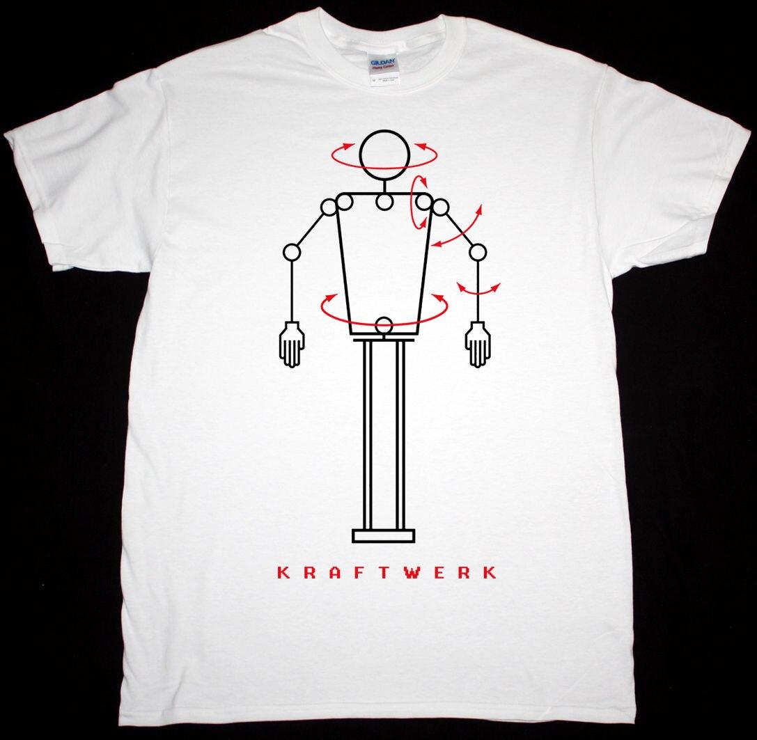 KRAFTWERK ROBOT BLACK / WHITE MENS T SHIRT ELECTRONIC KRAUTROCK FRONT 242 DEVO Tee Shirt Unisex More Size And Colors